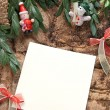 Christmas decoration with paper — Stock Photo