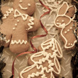 Christmas decoration with cookie — Stock Photo