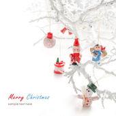 рождественские украшения с елочные игрушки — Стоковое фото