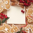 Christmas decoration with cookies — Stock Photo #16500323