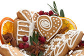 Christmas cookies and spice — Stock Photo