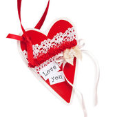 Paper red heart for Valentine's Day — Stock Photo