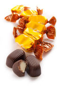Chocolate candy with sweet cream — Stock Photo
