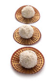 White sweet coconut truffles — Stock Photo
