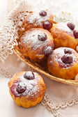Cherry Muffins — Stock Photo