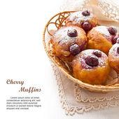 Cherry Muffins — Stock Photo
