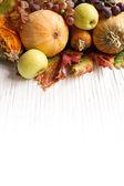Composition of autumn pumpkins — Stock Photo