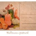 Postcard with pumpkin for Halloween — Stock Photo