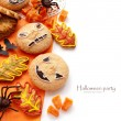 Halloween composition with cookies — ストック写真