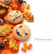 Halloween composition with cookies — 图库照片