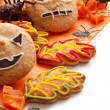 composición de Halloween con galletas — Foto de Stock