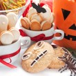 Halloween composition with cookies — Stock Photo