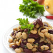 Cannellini and red beans salad with spices — Stock Photo