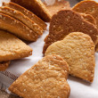 Stock Photo: Cookies with sesame seeds in the shape of heart