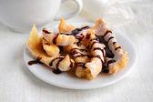 Doce vara crocante com cobertura de chocolate — Fotografia Stock