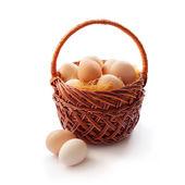 Set of organic eggs — Stock Photo