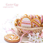 Colorful Easter cookies in the shape of egg — Stock Photo