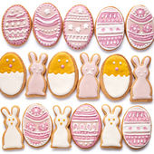 Set from Easter cookies in the shape of egg — Stock Photo