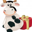 New Year Cow — Stock Vector #7431921
