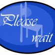 Stock Photo: Please wait