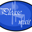 Please wait — Stock Photo