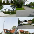 Swedish houses - Stock Photo