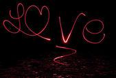 Love in lightpainting — Zdjęcie stockowe