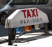Taxi in paris — Stock Photo