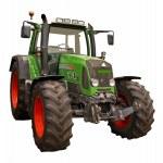 Green farm tractor — Stock Photo