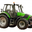 Green farm tractor — Stock Photo