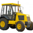 Yellow farm  tractor — Stock Photo