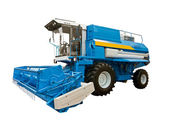 Blue agricultural harvester — Stock Photo