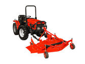 Red lawnmower — Stock Photo