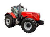 Red farm tractor — Stock Photo
