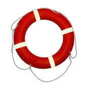 Red lifebuoy — Stock Photo