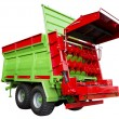 Fertilizer spreader — Stock Photo