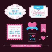 Valentine's Day Frames & Borders — Stock Vector