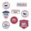 Made in the USA badges — Stock Vector