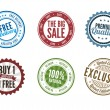 Retail Stamps — Stock Vector #39610497