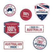 Made in Australia Badges — Stock Vector