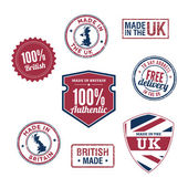 Made in the UK Badges — Stock Vector