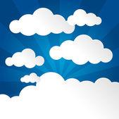 Blauwe hemel met wolken — Stockvector