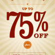 Stockvektor : Retail Discount Poster Design