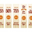 Stockvektor : Vintage Retail Website Banners