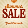 Stock Vector: Retail Summer Sale Poster