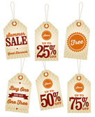 Summer Sale Retail Labels — Stock Vector