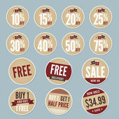 Retail Stickers — Stock Vector