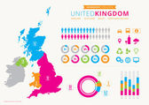 UK Infographic with icons — Stock Vector