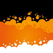 Orange Bubbly Background — Stock Vector