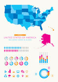 United States of America Infographic — Stock Vector